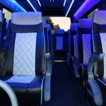 Luxury interior by Coventry minibus Hire for business or personal use