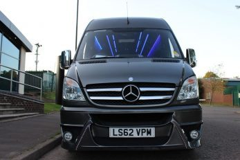 Turn up in style with this luxury minibus hired from Coventry Minibuses