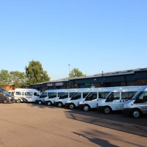 selection of minibuses for hire in Coventry