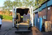 Wheel chair access minibus hire in Coventry, West Midlands